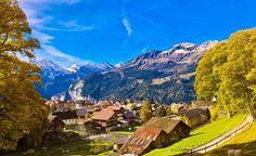 Wengen Village, Switzerland