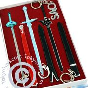 "Sword Art Online: ""Keychain - x3 Sword & Key Chain Box Set"""