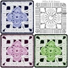 Transcendent Crochet a Solid Granny Square Ideas. Inconceivable Crochet a Solid Granny Square Ideas. Motifs Granny Square, Crochet Motifs, Granny Square Crochet Pattern, Crochet Blocks, Crochet Diagram, Crochet Stitches Patterns, Crochet Chart, Crochet Squares, Crochet Granny