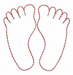 Foot Pattern Use The Printable Outline For Crafts