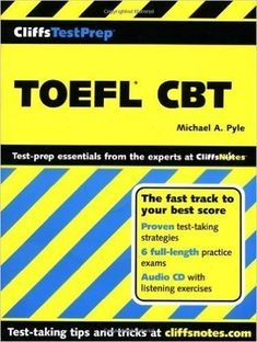 The Cliffs TestPrep series offers full-length practice exams that simulate the real tests; proven test-taking strategies to increase your chances at doing well; and thorough review exercises to help fill in any knowledge gaps.    Maybe you have not seen    Delta's Key to the Next Generation TOEFL Test: Six Practice Tests for the iBT  LinguaForum Hooked On TOEFL iBT Speaking (New Edition)  LinguaForum Hooked On TOEFL iBT Writing (New Edition)  LinguaForum Hooked On TOEFL iBT Listening (New…