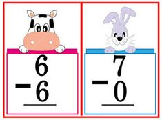 These flashcards are great for classroom practice on subtraction problems. Use them for your math drills to develop skill in mental math. Math Drills, Flashcard, Visual Aids, Picture Cards, Kindergarten Teachers, Best Teacher, Classroom, Education, School