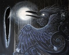 The Raven and the Moon by Opaca.deviantart.com
