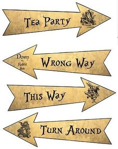 Details about Party Arrows Alice in Wonderland party decorat.- Details about Party Arrows Alice in Wonderland party decoration set 4 grunge new larger size - Alice In Wonderland Printables, Alice In Wonderland Clocks, Alice In Wonderland Garden, Alice In Wonderland Decorations, Wonderland Party, Alice In Wonderland Invitations, Winter Wonderland Centerpieces, Mad Hatter Tea, Illustrations