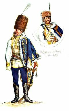 SOLDIERS- Menzel: SYW- Prussia: Prussian Hussar Regiment No.3, by Adolph Menzel.