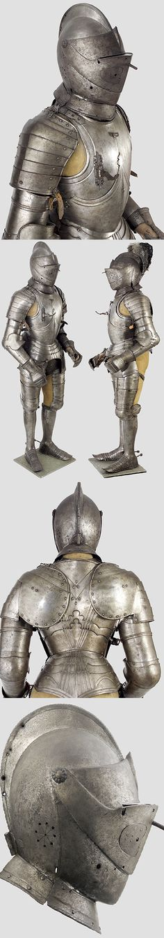 A full suit of armour, Europe, 16th century.