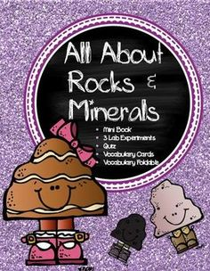 All About Rocks and Minerals   Table of Contents  1. Vocabulary Cards- rocks, minerals, igneous rocks, sedimentary rocks, metamorphic rocks 2. Mini Book ( 10 pgs.) 3. Foldable (2 pgs.) 4 Lab Experiments * Rock Hunt * Igneous Rock Model * Sedimentary Rock Model 5.