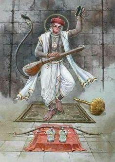 Uncleji is not at all Hanumanji. Because wo aadmi hai. Lord Rama Images, Lord Hanuman Wallpapers, Hanuman Images, Hanuman Pics, Hanuman Chalisa, Durga, Hindu Dharma, Shiva Shakti, Hindu Deities