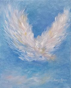 Angel Wings original oil painting on canvas angels peace