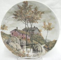 Vizavi Italian Porcelain Collector Plate Autumn Fall Season by P Dilanipa #Vizavi