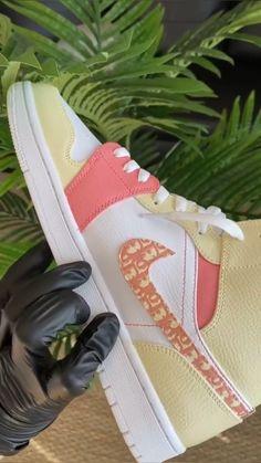 Cute Nike Shoes, Cute Sneakers, Nike Air Shoes, Custom Painted Shoes, Custom Shoes, Swag Shoes, Aesthetic Shoes, Hype Shoes, Dream Shoes