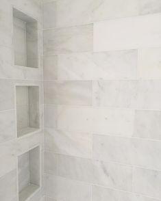 @jslifeandstyle marble shower. Shower niche