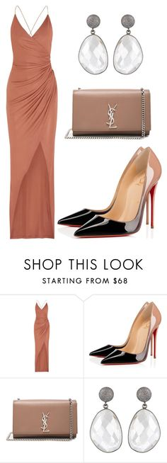"""""""Untitled #1386"""" by rosechicgeorgia on Polyvore featuring Balmain, Christian Louboutin and Yves Saint Laurent"""