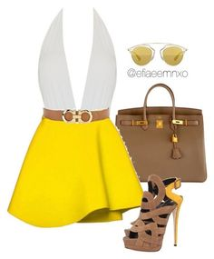 A fashion look from March 2016 by efiaeemnxo featuring MOEVA, Giuseppe Zanotti, Hermès, Christian Dior and Salvatore Ferragamo Classy Outfits, Chic Outfits, Summer Outfits, Fashion Outfits, Fashion Trends, Summer Wear, Passion For Fashion, Love Fashion, Fashion Looks