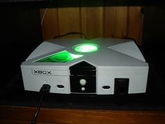white xbox with green led Playstation, Custom Consoles, Xbox One Console, Green Led, Xbox One S, Computer Technology, Fun Games, Wii, Arcade