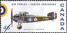 Canadian Postal Archives Database    Postal Administration: Canada     Title: Sopwith 5.F.1 Dolphin     Denomination: 46¢     Date of Issue: 4 September 1999