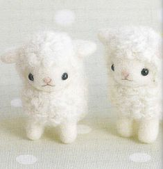 Cute Needle Felt Sheep Mascot Needle Felting von DollyAndPaws, $3.50