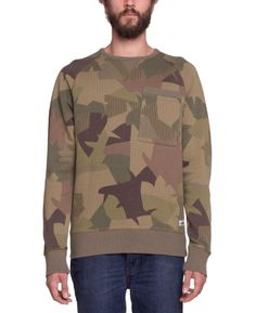 Penfield - Bridgeport Crew Sweater Jungle Camo - SOTO Berlin