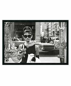 6f9513f1e20a  Audrey Hepburn Breakfast at Tiffany s  Framed Art   Reviews - Wall Art -  Macy s
