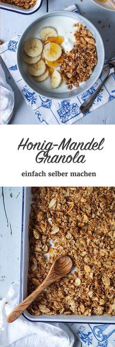 Einfaches Honig Mandel Granola Grundrezept - Müsli selber machen www.zuckerzimtundliebe.de