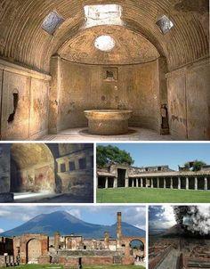 Ancient Roman Baths - Thermae, Baths of - Caracalla, Diocletian, Trajan