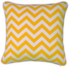 Mrs Darcy Zig Zag Cushion - Yellow