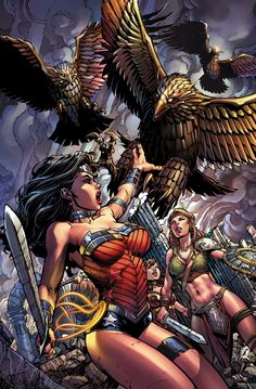 WONDER WOMAN #37 Cover by DAVID FINCH and RICHARD FRIEND
