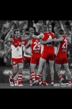 Photo by AFL photos - swans Melbourne, Sydney, Swans, Rugby, Cheer, Photos, Pictures, Australia, Football
