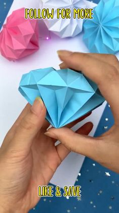 Diy Crafts To Do, Paper Flowers Craft, Paper Crafts Origami, Diy Crafts Hacks, Diy Origami, Paper Crafts For Kids, Diy Arts And Crafts, Creative Crafts, Oragami