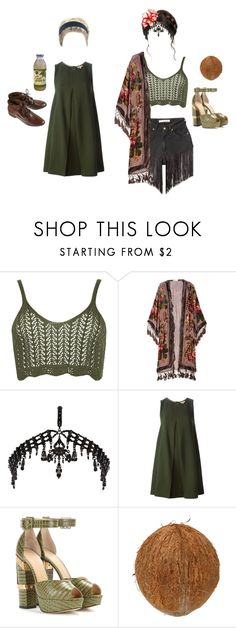 """Boho Bambie"" by thottieb ❤ liked on Polyvore featuring WearAll, Kite and Butterfly, River Island, P.A.R.O.S.H., Charlotte Olympia and CO"