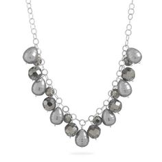 """17""""+2"""" Multibead Dangle Link Chain Necklace"""