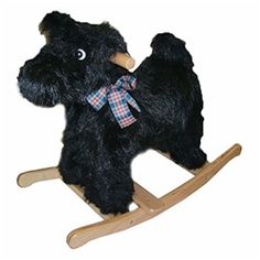Polish Plush Black Scottish Terrier Rocker