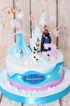 Tort Frozen pentru Anastasia