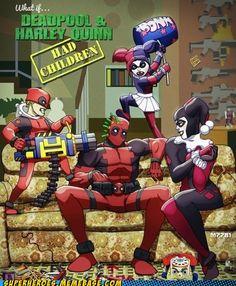 Deadpool and Harley Quinn- Make it happen.