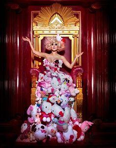 Lady Gaga wears Hello Kitty