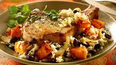 Cilantro Pork with Sweet Potato Rice