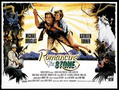 Romancing the Stone (1984) British Quad poster (Restoration performed by Darren Harrison)