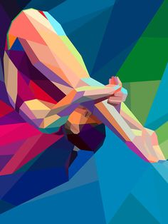 Greek designer (really, where else could he be from?) Charis Tsevis has created new illustrations just for Yahoo!'s coverage of the 2012 Olympic Games. Tsevis designed these colorful and dynamic images for diving, running, and gymnastics. His geometric representations shows the energy and grace of the Olympic athletes.