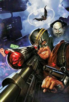 Here you'll find an other-worldly exhibition of The Worlds Greatest Superheroes, and Deadliest Super Villains of Marvel, & DC Comics. Deadshot, Deathstroke, Game Character Design, Comic Character, Comic Books Art, Comic Art, Book Art, Star Trek, Last Action Hero