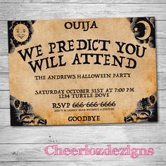 halloween party invites i just looked up a blank ouija board