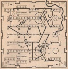 Hanna Hock, circuit diagram [metronome] from Science fun experiments in electronics, 1973