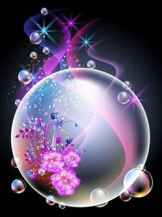 Glowing background with a ball, flowers, smoke, stars and bubbles - Phone Wallpaper Beautiful Landscape Wallpaper, Beautiful Flowers Wallpapers, Background Images Wallpapers, Cute Wallpaper Backgrounds, Pretty Wallpapers, Flowery Wallpaper, Butterfly Wallpaper, Love Wallpaper, Colorful Wallpaper