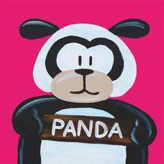 Kinderschilderijtje Beessie Panda €19,95