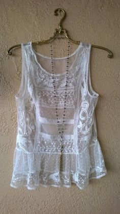 Eloise Anthropologie Embroidered Lace Patchwork Sheer Blouse