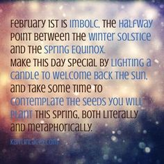 The halfway point between the winter solstice and the spring equinox Constellations, February 1, Beltane, Imbolc Ritual, Sabbats, Kitchen Witch, Winter Solstice, Equinox, Book Of Shadows