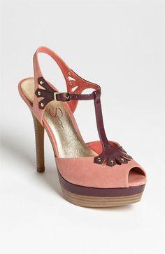 I LOVE this shoe. T-strap Jessica Simpson peep toe.