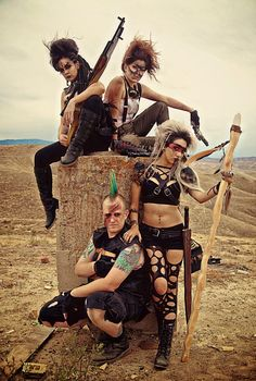 "Gritty ""Mad Max"" Group Cosplay"