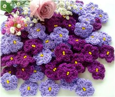 Roses are red ...violets are ...crocheted !
