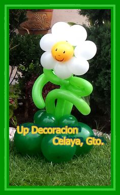 Margarita, Plantas Vs Zombis Kids Zombie Party, Zombie Birthday Parties, 2nd Birthday, Plantas Versus Zombies, Plant Zombie, Balloon Flowers, Balloon Decorations, Party Time, Balloons