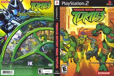 Teenage Mutant Ninga Turtles PlayStation 2 Game, insert, case, no Manual. Ever After High Games, Video Game Characters, Playstation 2, Teenage Mutant Ninja Turtles, Cover